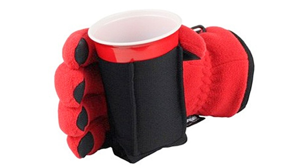 tailgating beer glove red