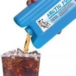 Ice Pack Flask Pouring