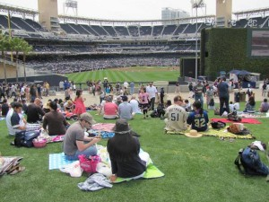 Petco Park grass seats