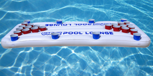 pool Lounge Floating Beer Pong Raft