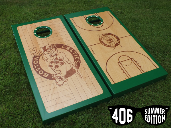 Boston Celtics Cornhole Boards