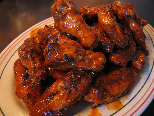 Insanely hot chicken wings