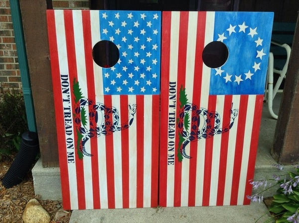 Old Glory Cornhole Board