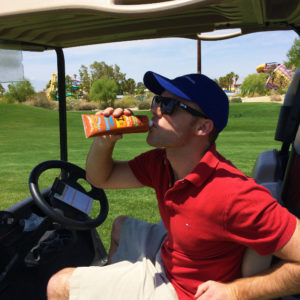 Sunscreen Flask Golfing