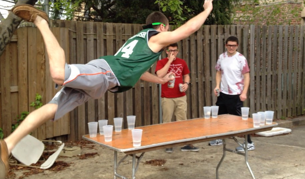 Beer Pong Slam Dunk