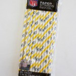 Green Bay Packers package of paper drinking straws