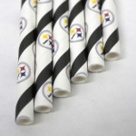 Pittsburgh Steelers paper drinking straw