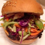 The Sticky Asian Pig with Sesame Slaw Sandwich