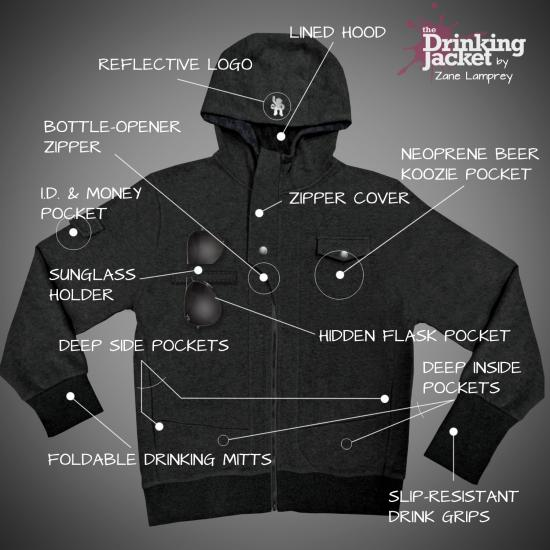 Drinking Jacket Features
