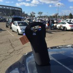 Growler Tote at the stadium