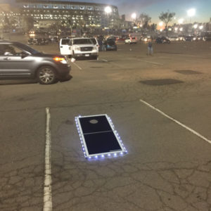 Pro Glow Cornhole Lights at Qualcomm Stadium parking lot