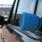 Swimmer Duo Bluetooth Speaker from Polk BOOM suction on car