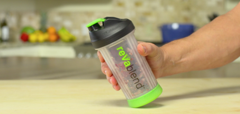 RevaBlend Non-Electric Portable Blender with Stainless Steel Blades