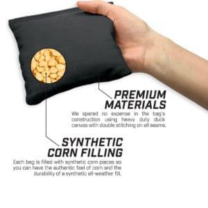 Cornhole Bag showing insides