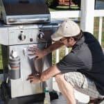Rhino Wipes on BBQ Grill